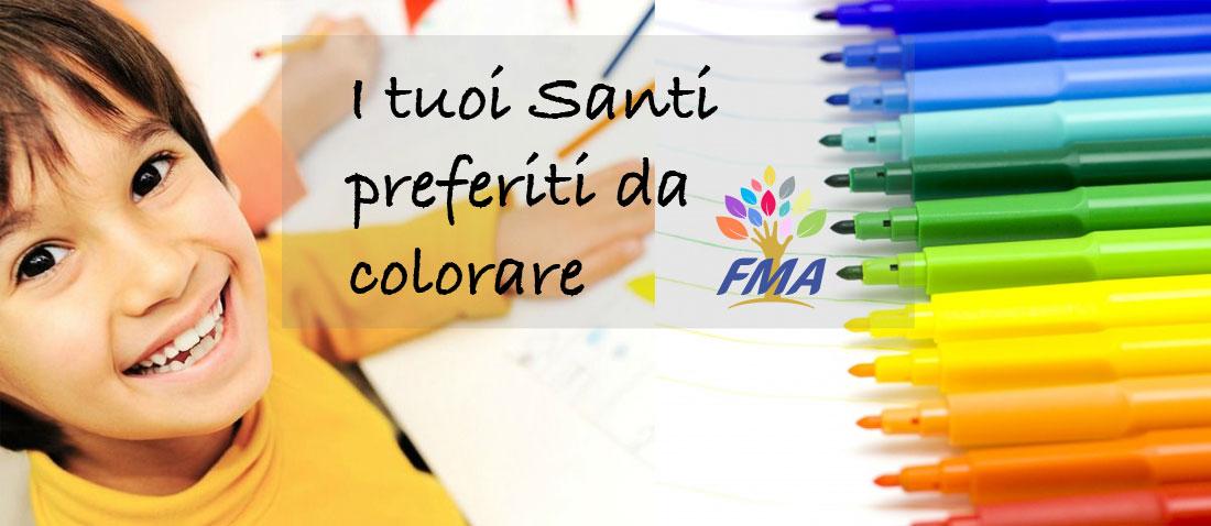 santi da colorare FMA