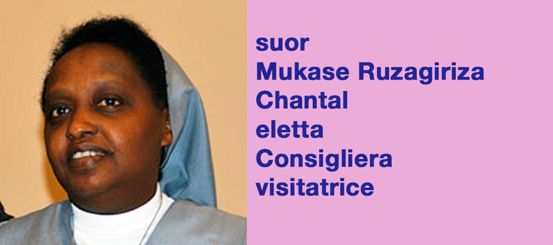 suor Mukase Ruzagiriza Chantal eletta Consigliera visitatrice