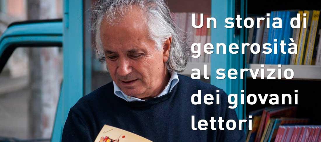 """Il """"bibliomotocarro"""" di Antonio La Cava"""