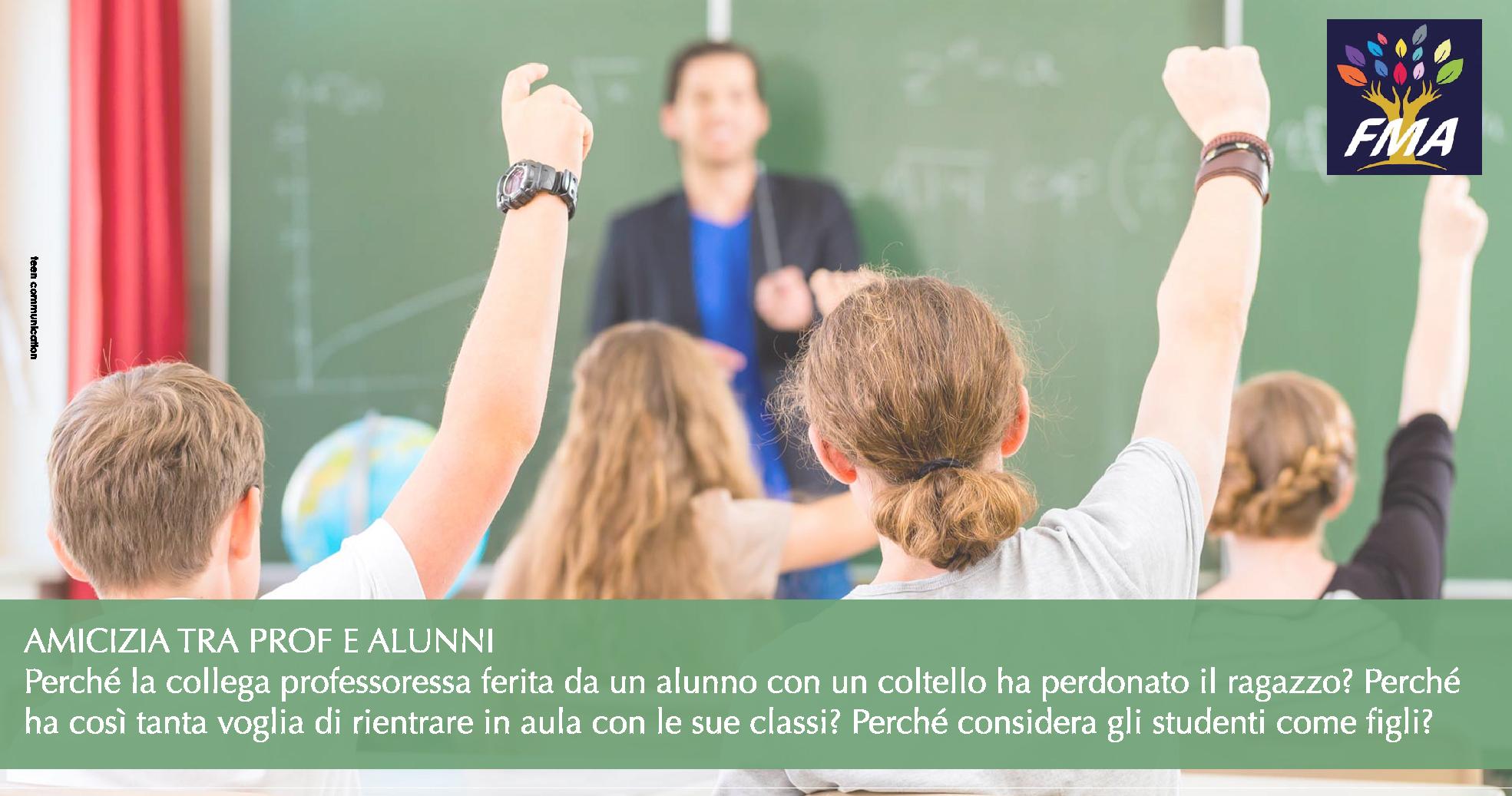 Amicizia tra prof e alunni
