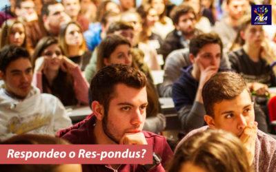 Respondeo o Res-pondus?