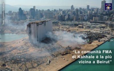 Le FMA vicine al popolo libanese