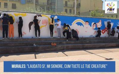 Un murales sulla Laudato si'